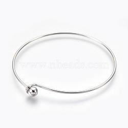 """Основы для браслетов из латуни, платина, 2-3/8"""" (6.1 см) х2-5/8"""" (6.7 см)(MAK-L017-01P)"""