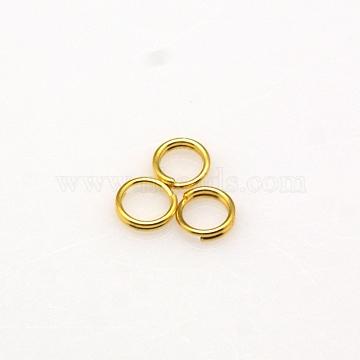 Brass Split Rings, Golden, 5x1.2mm; about 3.8mm inner diameter(JRDC5MM-G)