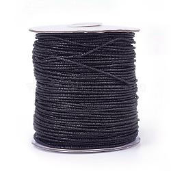 Cordon de polyester, noir, 2 mm; 100 yards / rouleau (300 pieds / rouleau)(OCOR-E017-01A-07)