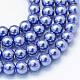 Baking Painted Pearlized Glass Pearl Round Bead Strands(X-HY-Q003-4mm-09)-1