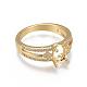 Environmental Brass Finger Ring Components(MAK-F030-10G-NR)-2
