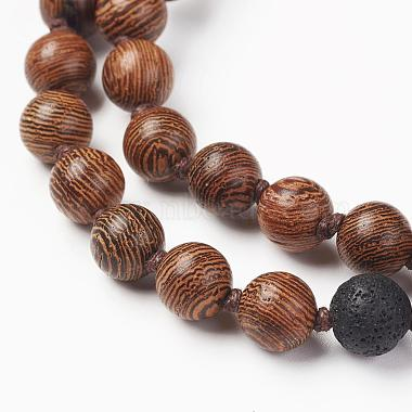 Wood Beaded Two Tiered Necklaces(NJEW-JN01974)-2