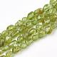 Natural Peridot Beads Strands(G-T107-17)-1