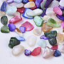 Natural Freshwater Shell Beads, No Hole/Undrilled, Chips, Dyed, Shell Shards, Mixed Color, 3~12x1~6x0.5~5mm