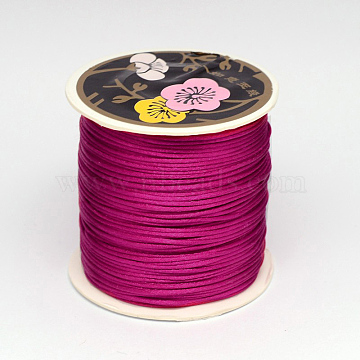 Nylon Thread, Medium Violet Red, 2mm, about 25.15 yards(23m)/roll(LW-K001-2mm-129)