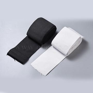 Flat Elastic Rubber Band, Webbing Garment Sewing Accessories, Black & White, 98mm(EC-MSMC001-02)