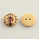 2-Hole Clock Pattern Printed Wooden Buttons(BUTT-R031-022)-2