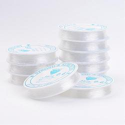 Clear Elastic Crystal Thread, Stretchy String Bead Cord, for Beaded Jewelry Making, 0.6mm; 10.5m/roll(EW-0.6D)