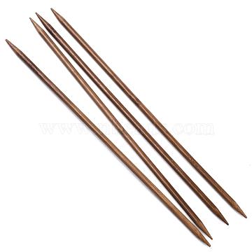 Bamboo Double Pointed Knitting Needles(DPNS), Peru, 250x5.5mm; 4pcs/bag(TOOL-R047-5.5mm-03)