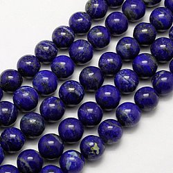 Natural Lapis Lazuli Beads Strands, Grade A, Round, 4mm, Hole: 1mm; about 92pcs/strand, 16inches