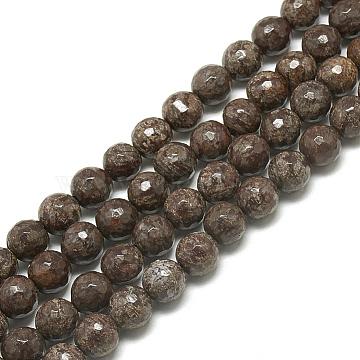 6mm Round Snowflake Obsidian Beads