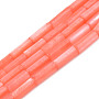 Natural Freshwater Shell Beads Strand, Dyed, Column, Coral, 9x3mm, Hole: 0.8mm, about 38pcs/strand, 16.93 inches(43cm)