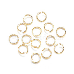 304 Stainless Steel Jump Rings, Open Jump Rings, Golden, 20 Gauge, 7x0.8mm