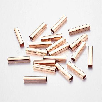 Brass Cuboid Tube Beads, Golden, 20x4x4mm, Hole: 3.5x3.5mm(X-KK-L029-02)