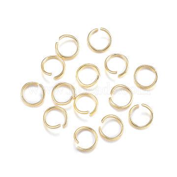 304 Stainless Steel Jump Rings, Open Jump Rings, Golden, 20 Gauge, 7x0.8mm(X-STAS-F084-21G)