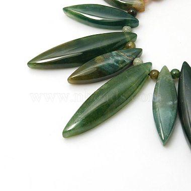 Natural Indian Agate Bib Statement Necklaces(NJEW-G108-02)-2