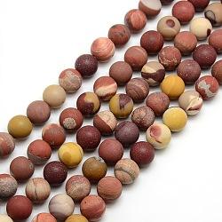 """Mookaite naturel dépoli brins de perles rondes, 10mm, trou: 1mm; environ 37~39 pcs/chapelet, 14.9~15.6""""(G-M064-10mm-11)"""
