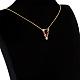 Brass Micro Pave Cubic Zirconia Initial Pendants Necklaces(NJEW-S069-JN002-V)-2
