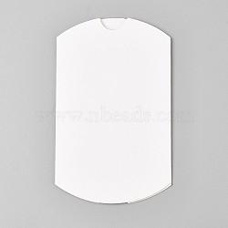Coffrets cadeaux de mariage en papier kraft, coussin, blanc, 6.4x9x2.5 cm(CON-WH0033-A-03)
