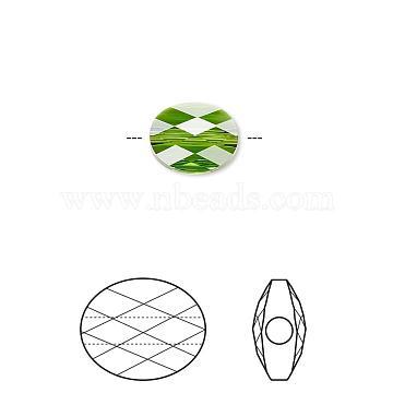 Brass Micro Pave Clear Cubic Zirconia Shank Buttons, Flower, Platinum, 14x9mm, Hole: 3mm(KK-H738-15P)