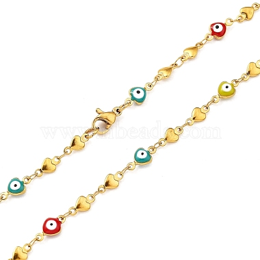 Unisex 304 Stainless Steel Rosary Bead Necklaces(NJEW-L457-001B-G)-4