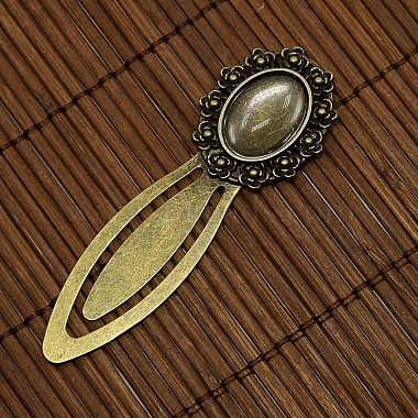 18x13mm Clear Domed Glass Cabochon Cover for DIY Alloy Portrait Bookmark Making(DIY-X0124-AB-NR)-2