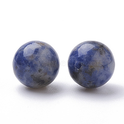 натуральные синие пятна яшмы, половине просверлил, вокруг, 12 mm, отверстия: 1 mm(G-S288-01-12mm)