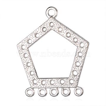 Platinum Polygon Alloy Chandelier Components Links