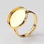 Golden Brass Ring Components(X-MAK-Q009-13G-12mm)