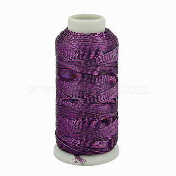 Metallic Cord, 9-Ply, Purple, 0.8mm, about 328.08 yards(300m)/roll(MCOR-G001-0.8mm-02)
