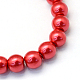 Baking Painted Pearlized Glass Pearl Round Bead Strands(X-HY-Q003-4mm-74)-2