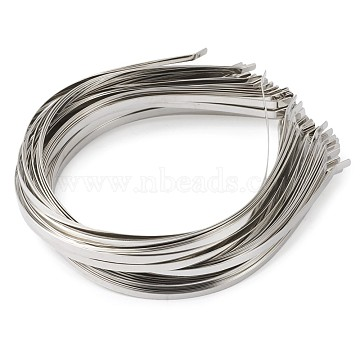 Hair Accessories, Iron Hair Band Findings, Platinum, 120~125mm(OHAR-TA0001-02)