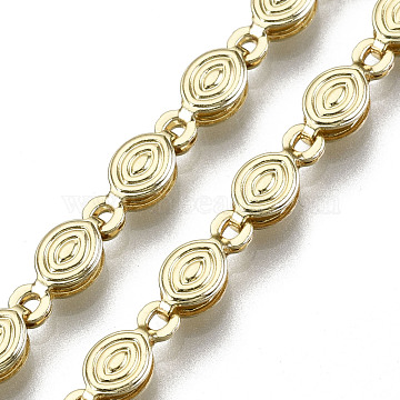 Brass Oval Link Chains, Long-Lasting Plated, Unwelded, Light Gold, 9x4x2.5mm(CHC-N018-066)