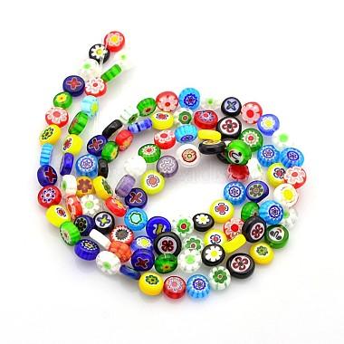 Handmade Millefiori Glass Beads(X-LAMP-J033-8mm-M)-2