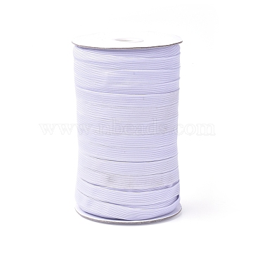 (Defective Closeout Sale), Flat Braided Elastic Rope Cord, Heavy Stretch Knit Elastic with Spool, White, 11mm, 90~100yards/roll(300 feet/roll)(EC-XCP0001-03)