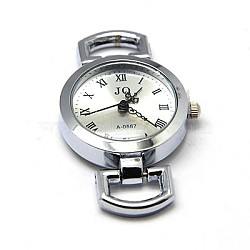 Composants de montre tête cadran en alliage, plat rond, platine, 28~29x26x9mm, Trou: 10x5mm(X-WACH-F001-20P)