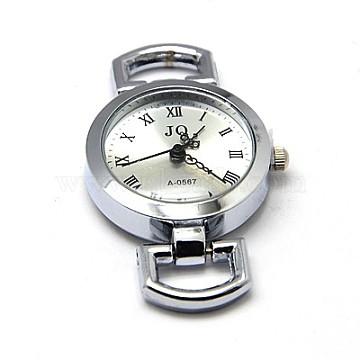Alloy Watch Components, Flat Round, 49x26x9mm, Hole: 10x5mm(X-WACH-F001-20P)