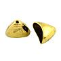 Tibetan Style Alloy Triangle Apetalous Bead Cones, For Tassels Pendant,  Cadmium Free & Nickel Free & Lead Free, Antique Golden, 14x20x12mm, Hole: 2mm