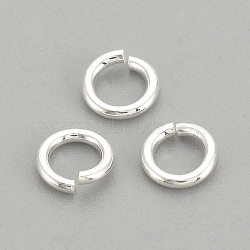 925 Sterling Silver Jump Rings, Round Rings, Close but Unsoldered, Silver, 4x0.7mm, 2mm inner diameter(STER-S002-57)