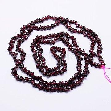 4mm DarkRed Chip Garnet Beads