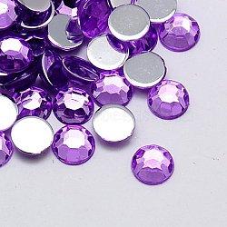 Акриловые стразы - кабошоны , граненые, полукруглый, сиреневые, 2.5x1 мм ; около 10000 шт / мешок(GACR-A002-2.5mm-25)
