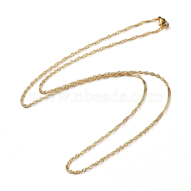 304 Stainless Steel Singapore Chains Necklaces(X-NJEW-JN02662-04)-1