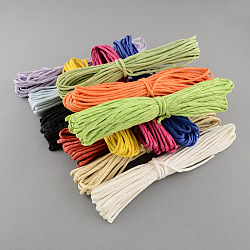 Twisted Paper Cord, For Paper Craft , Mixed Color, 3mm, about 7.65 yards(7m)/roll(DIY-S003-02)