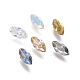 Electroplated Cubic Zirconia Pointed Back Cabochons(ZIRC-I024-5x10-02)-1
