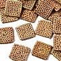 BurlyWood Square Rattan Beads(WOVE-S119-19)