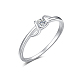Real Platinum Plated Brass  Cubic Zirconia Circle Rings(RJEW-EE0001-009G)-1