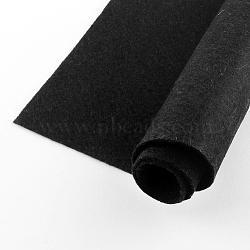 Feutre à l'aiguille de broderie de tissu non tissé pour l'artisanat de bricolage, carrée, noir, 298~300x298~300x1 mm; environ 50 PCs / sac(DIY-Q007-01)