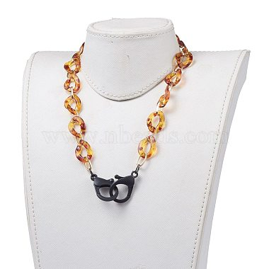 Personalized Aluminium & Acrylic Chain Necklaces(X-NJEW-JN02883)-4