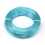Aluminum Wire, Bendable Metal Craft Wire, for DIY Jewelry Craft Making, Dark Turquoise, 3 Gauge, 6.0mm; 7m/500g(22.9feet/500g)