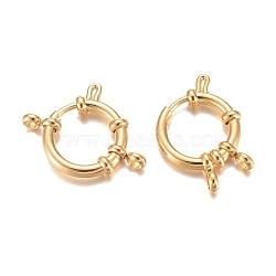 304 пружинные кольца из нержавеющей стали, кольцо, золотой, 16x4 mm, отверстия: 2.5 mm(STAS-G190-17G-A)